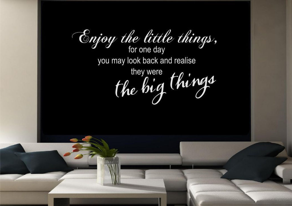 Enjoy The Little Things Wall Quote WSD467