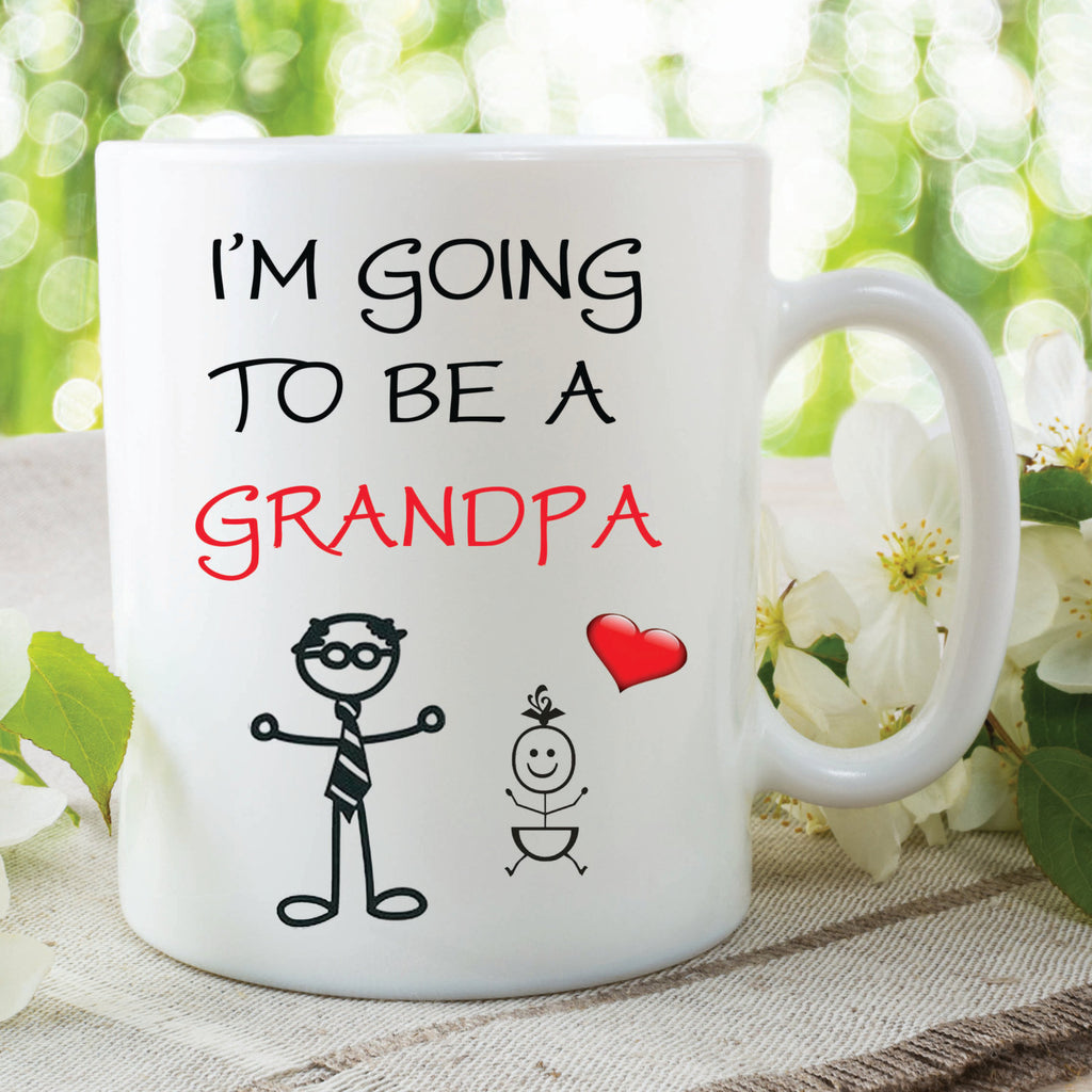 I'm Going To Be A Grandpa Mug Pregnant Pregnancy Fathers Day Gift Baby Shower Present Gift For Grandpa Coffee Tea Mug Gift Ideas WSDMUG74