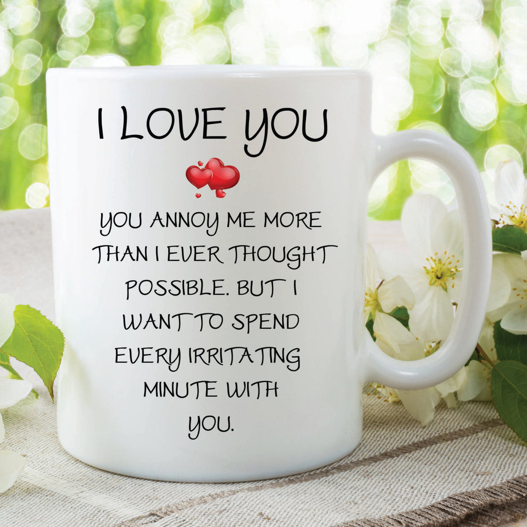 I Love You Mug Funny Novelty Mug Wife Gift Girlfriend Present Husband Gifts Girlfriend Mug Anniversary Marriage Gifts Coffee Mug WSDMUG125