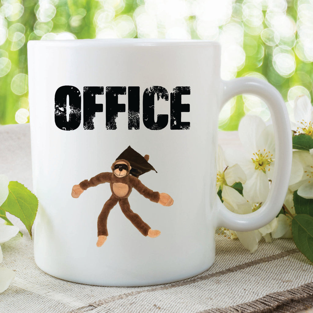 Funny Novelty Mugs Office Monkey Friend Gifts Funny Gift Ideas Work Office Secret Santa Christmas Present Colleague Fun Cup WSDMUG167