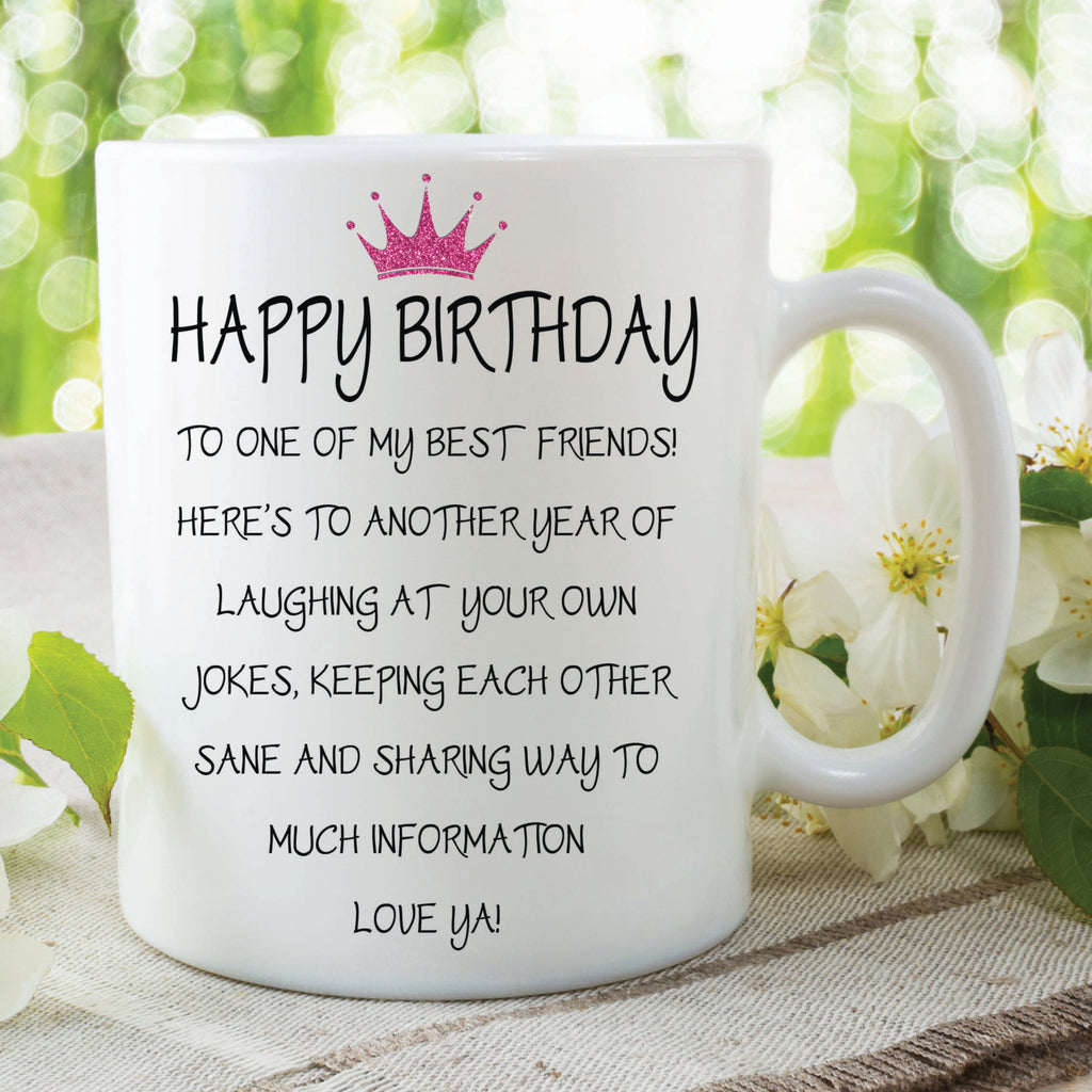 Novelty Happy Birthday Mug Best Friend Gift Funny Present For Peachy Cards