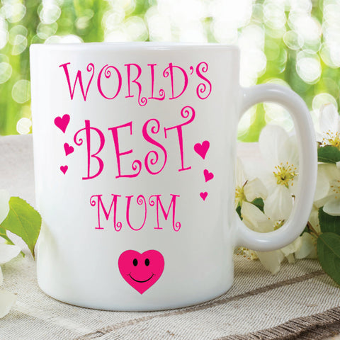 Worlds Best Mum Mug Novelty Gift Mothers Day Present Gift For Mum Awesome Mum Best Mum Family Gift Christmas Birthday WSDMUG250