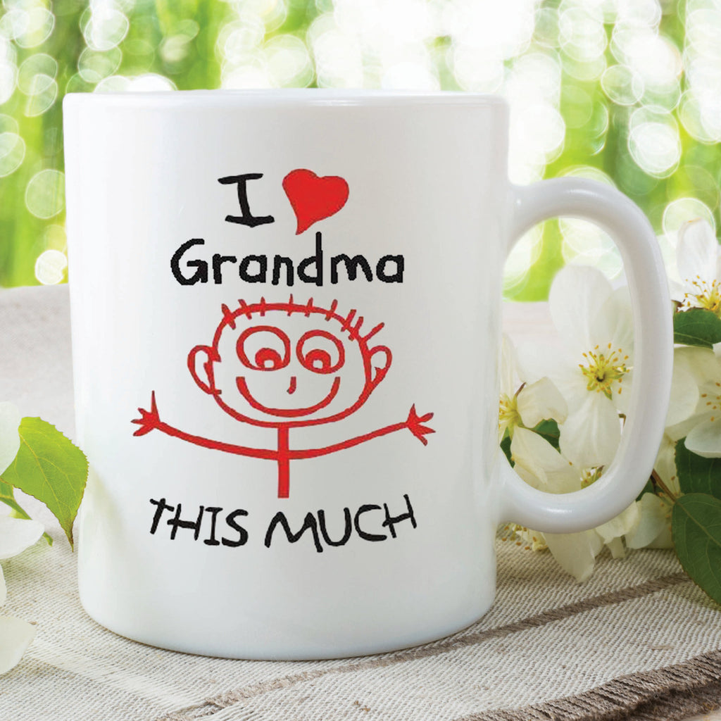 Printed mug I Love My Grandma This Much Birthday Christmas Present Mothers Day Nana Mug Cup Best Nana Gift For Nana Grandchildren WSDMUG370