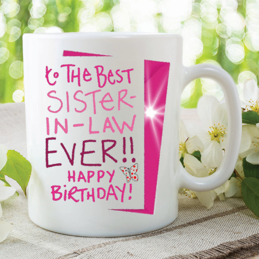 Birthday Mugs To The Best Sister In Law Mug Cup Gifts F Peachy Cards