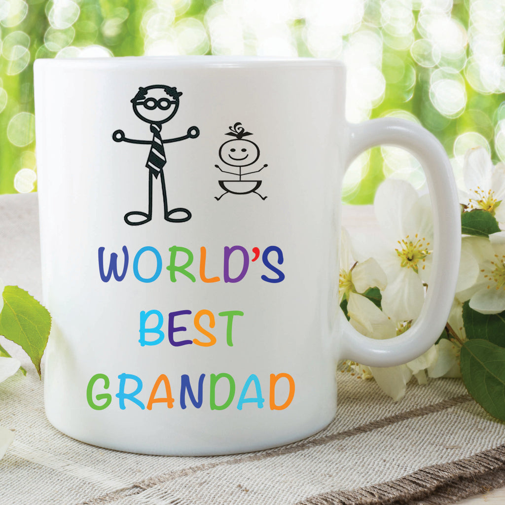 World's Best Granddad Mug Fathers Day Gift Grand Children Christmas Dad Secret Santa Present Grand Father Coffee Ceramic Mug WSDMUG436