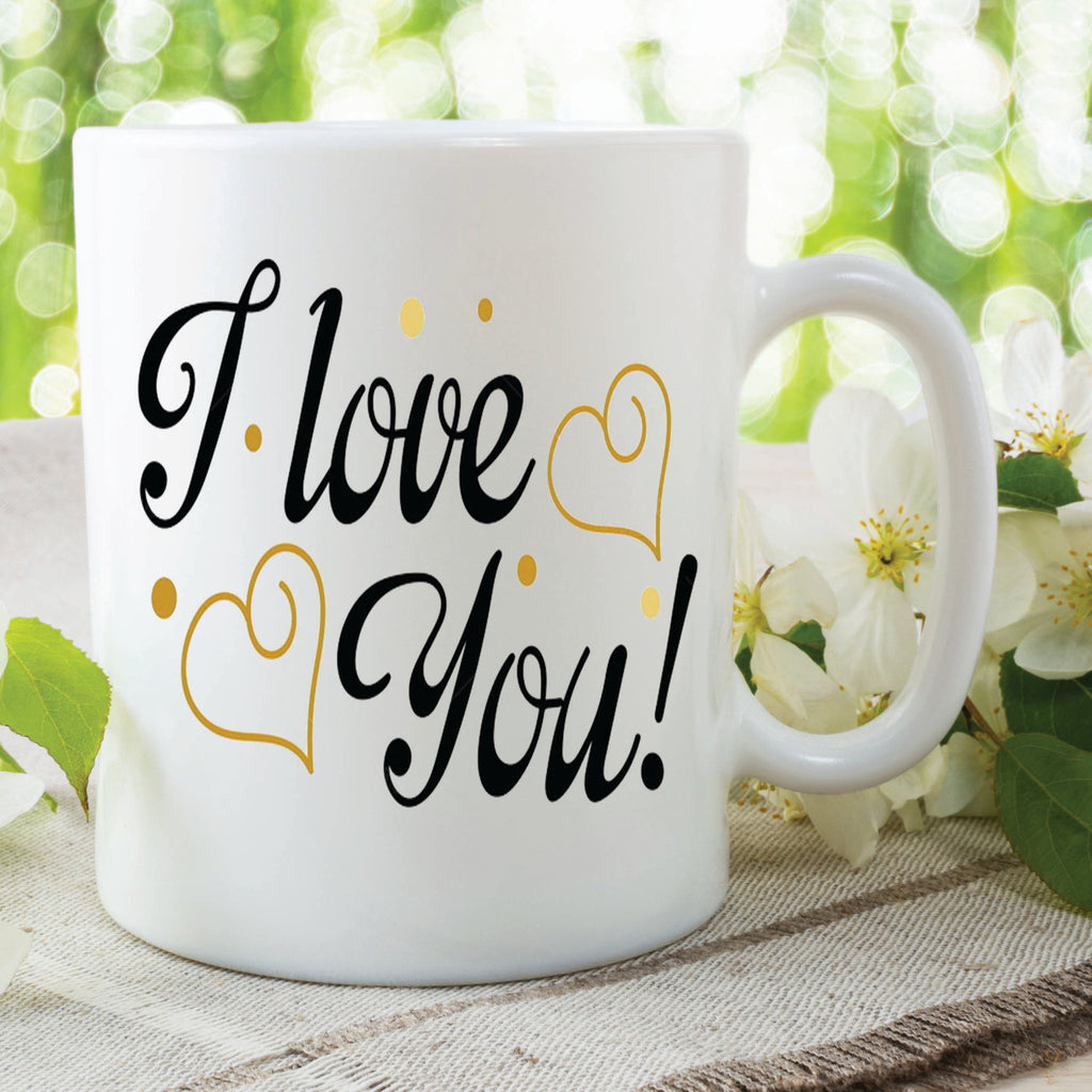 I Love You Mug Valentines Day Gift Hearts Girlfriend Boyfriend Husband Wife Birthday Christmas Mothers Day Family Present Cup WSDMUG440