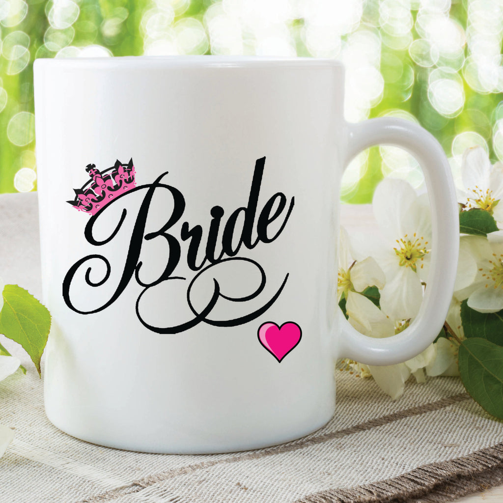 Bride Mug Wedding Gift Wedding Day Present Gift For Her Wife To Be Hubby Wifey Wife Married Valentines Coffee Tea Cup WSDMUG475