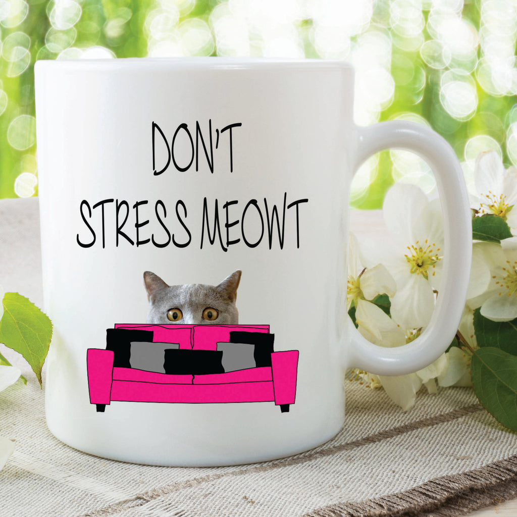 Novelty Funny Mugs Don't Stress Meowt Cat Mugs Cat Lovers Mugs Birthday Friend Gifts Mothers Day Mum Gifts Funny Girlfriend Gifts WSDMUG540