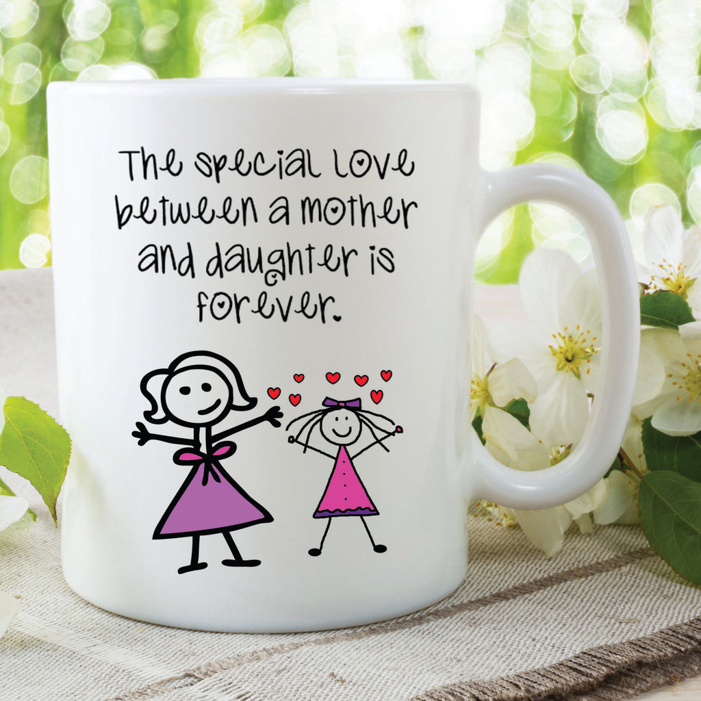 Mother And Daughter Mug Special Love Forever Mothers Day Gift For Mum Daughter Printed Ceramic Mugs Coffee Cups Home Kitchen Wear WSDMUG552