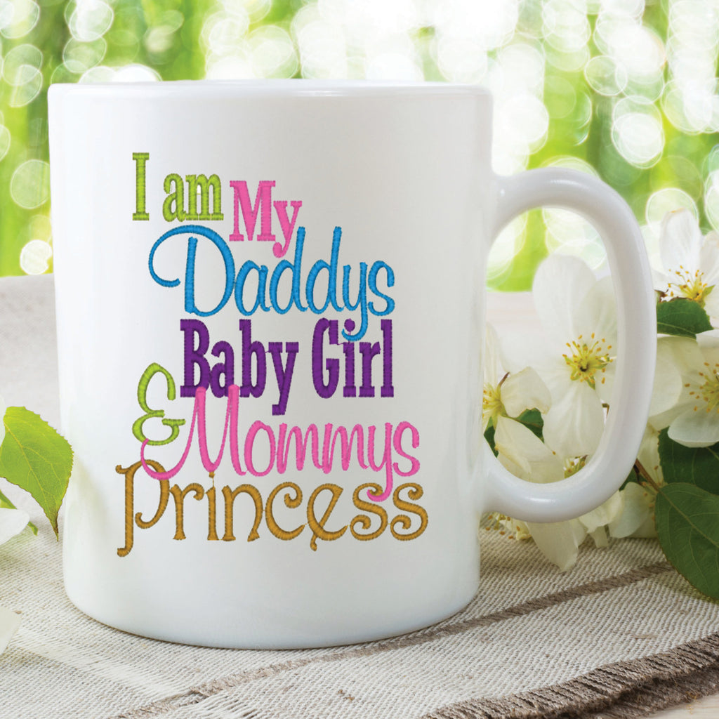 Daddy's Girl Mommy's Princess Mugs Fathers Day Mothers Day Gifts Present Daughter Mum Dad Christmas Birthday Ceramic Printed Mugs WSDMUG564