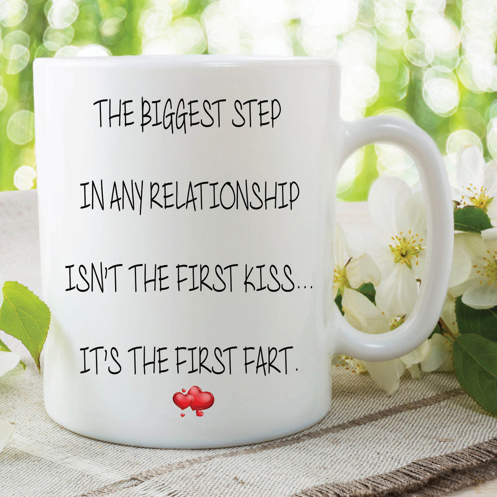 Fart Mug First Funny Novelty Gifts Girlfriend Valentines Joke Peachy Cards