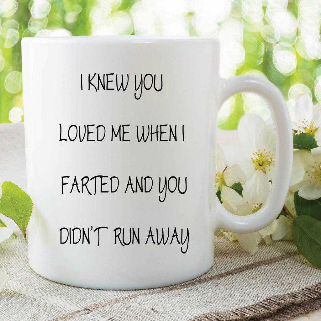 Fart Mug Funny Novelty Mug Farted Gift Boyfriend Girlfriend Birthday Valentines Present Friend Christmas Secret Santa Printed Cups WSDMUG401