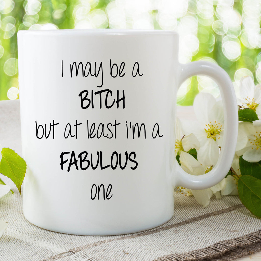 Funny Novelty Bitch Mug Fabulous Bitch Cup Gift Present For Friend Gifts For Her Funny Gift Ideas Work Mug Mothers Day Valentines WSDMUG676