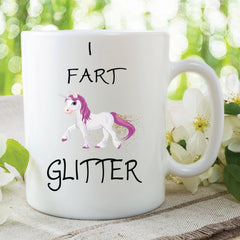 Novelty Unicorn Mug I Fart Glitter Unicorn Gifts Christmas Present Girlfriend Wife Coffee Cup Secret Santa Present Gifts For Friend WSDMUG92