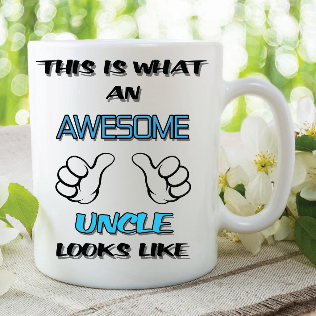 Uncle Mug This Is What An Awesome Uncle Looks Like Novelty Birthday xmas Gift Coffee Tea Present Ceramic Mug Uncle Gift WSDMUG94