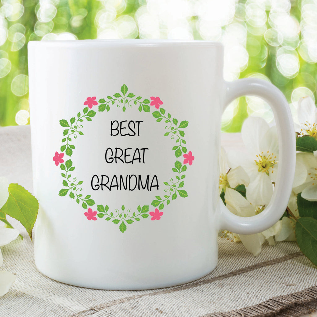 Best Great Grandma Mothers Day Flowers Birthday Gift Christmas Gifts Friend Gift Coffee Tea Present Ceramic Mug Cup Secret Santa WSDMUG109
