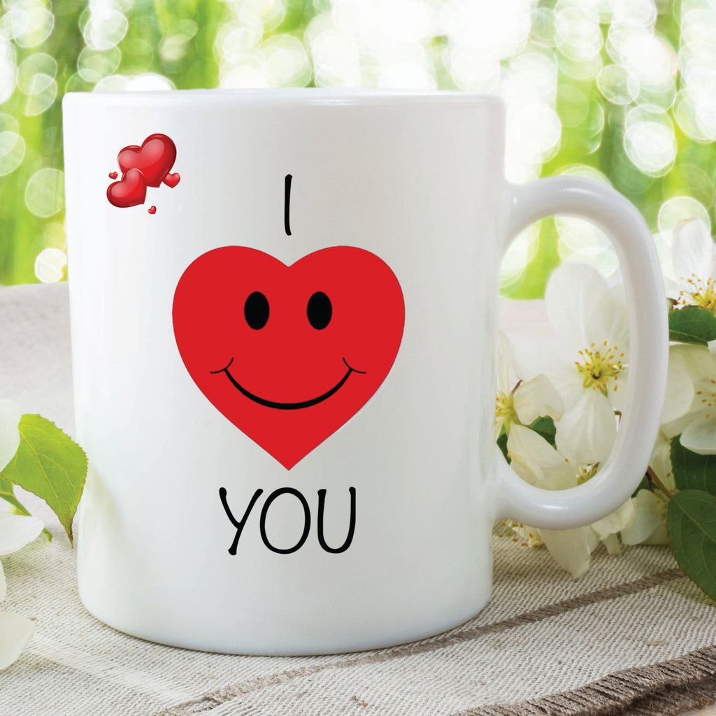 I Love You Mug Red Heart Printed Mugs Anniversary Valentines Day Gift Wedding Christmas Presents Boyfriend Girlfriend Husband Wife WSDMUG115