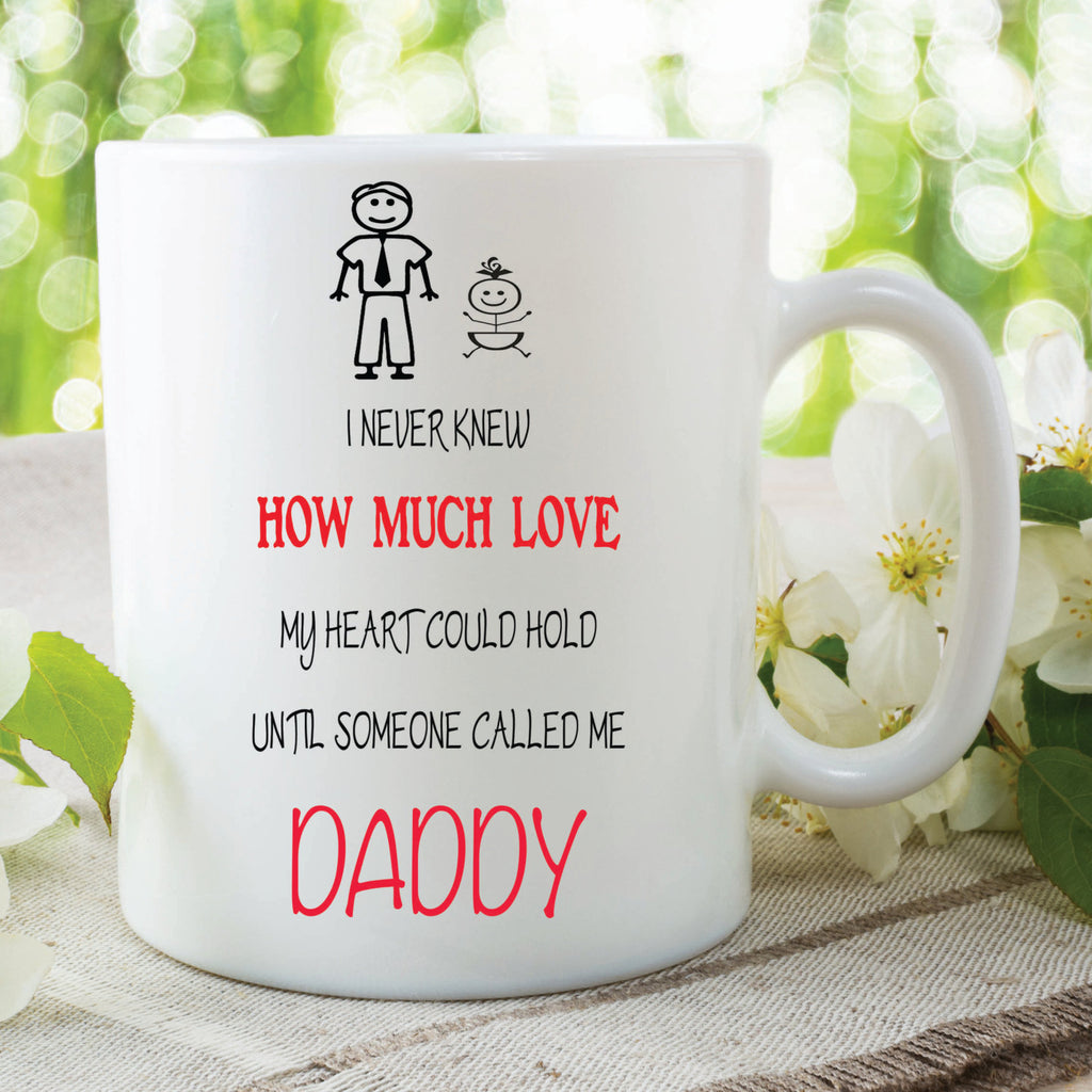Daddy Mug Loves Son Daughter Kids Present Gift Love Fathers Day F Peachy Cards