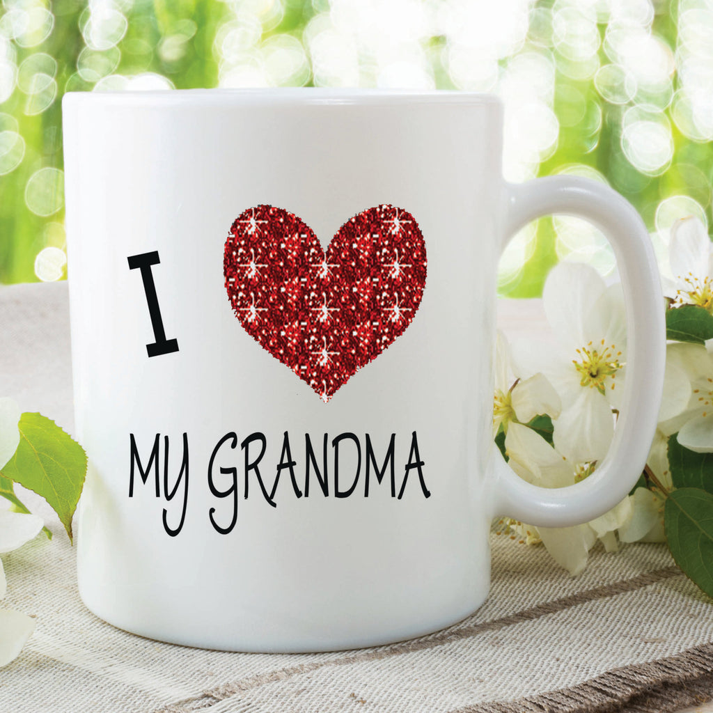 Grandma Mug I Love My Cup Gift Birthday Present Mothers Day Ch Peachy Cards