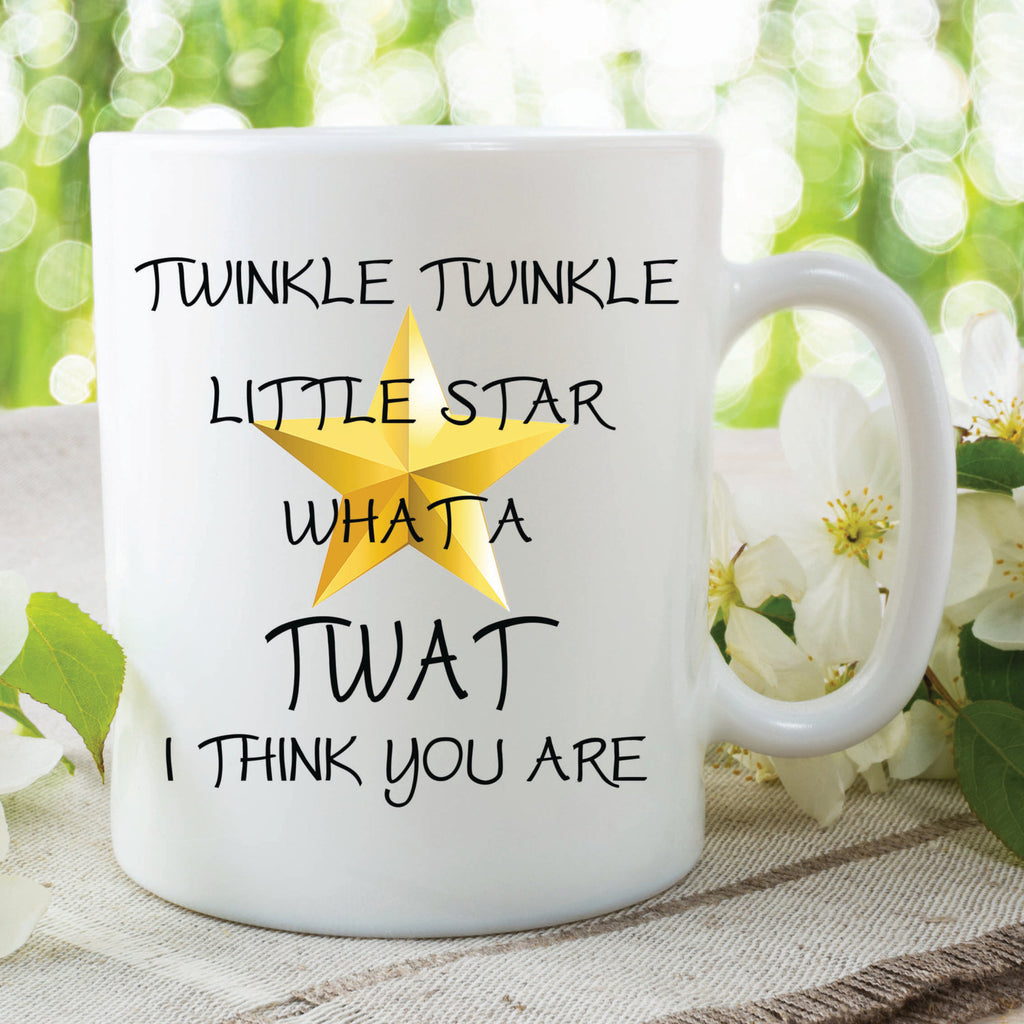 Twinkle Twinkle Twat Mug Novelty Funny Mugs Gift For Her Him Boyfriend Girlfriend Valentines Christmas Present Secret Santa Ideas  WSDMUG375