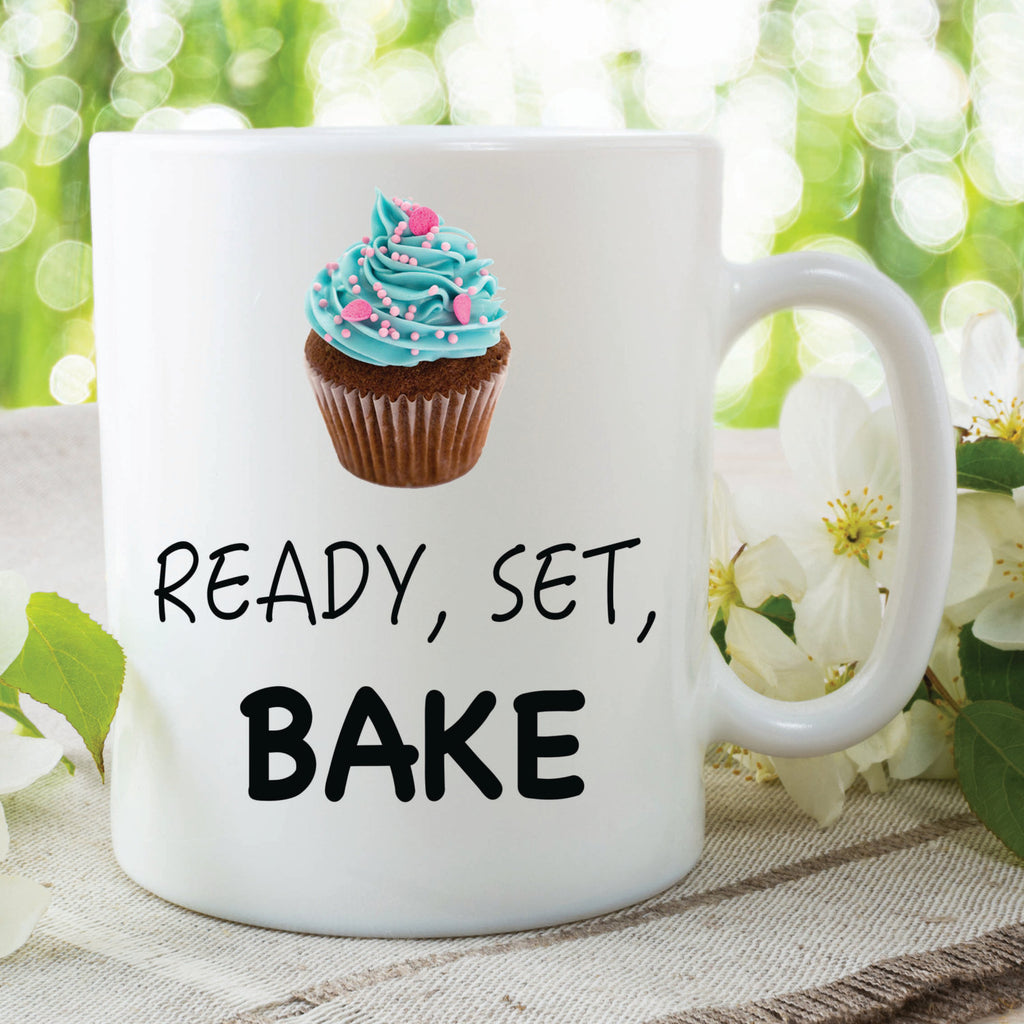 Ready Set Bake Mug Novelty Mugs Gift For Her Him Boyfriend Girlfriend Valentines Christmas Present Secret Santa Ideas Cupcake Cup WSDMUG376