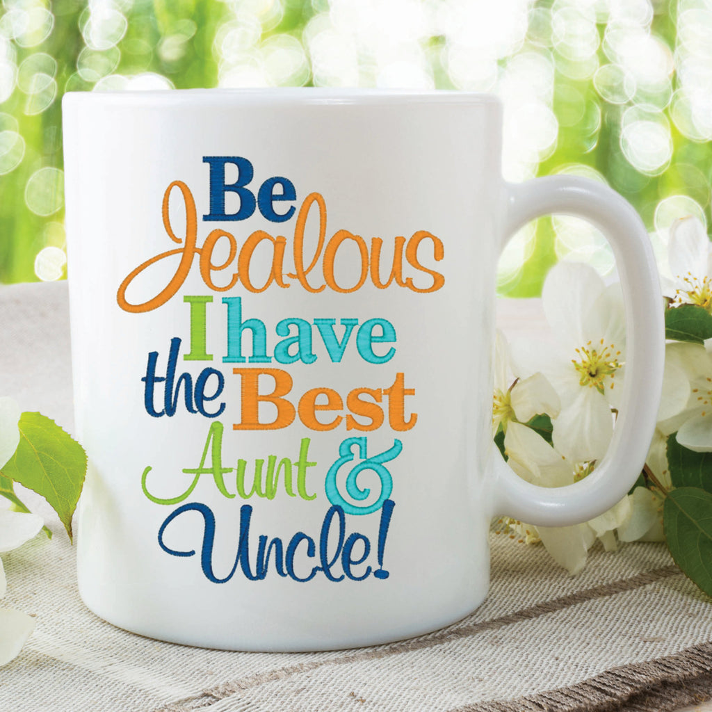 Novelty Funny Mugs Be Jealous I Have The Best Aunt And Uncle Christmas Mug Gifts Brother Sister Niece Nephew Auntie Uncle Gifts  WSDMUG382