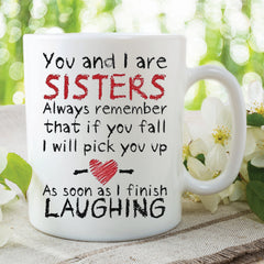 Funny Novelty Mugs Sister Mug Laughing Cup Christmas Gifts Birthday Present gift For Sister Gifts For Her Jokes WSDMUG391