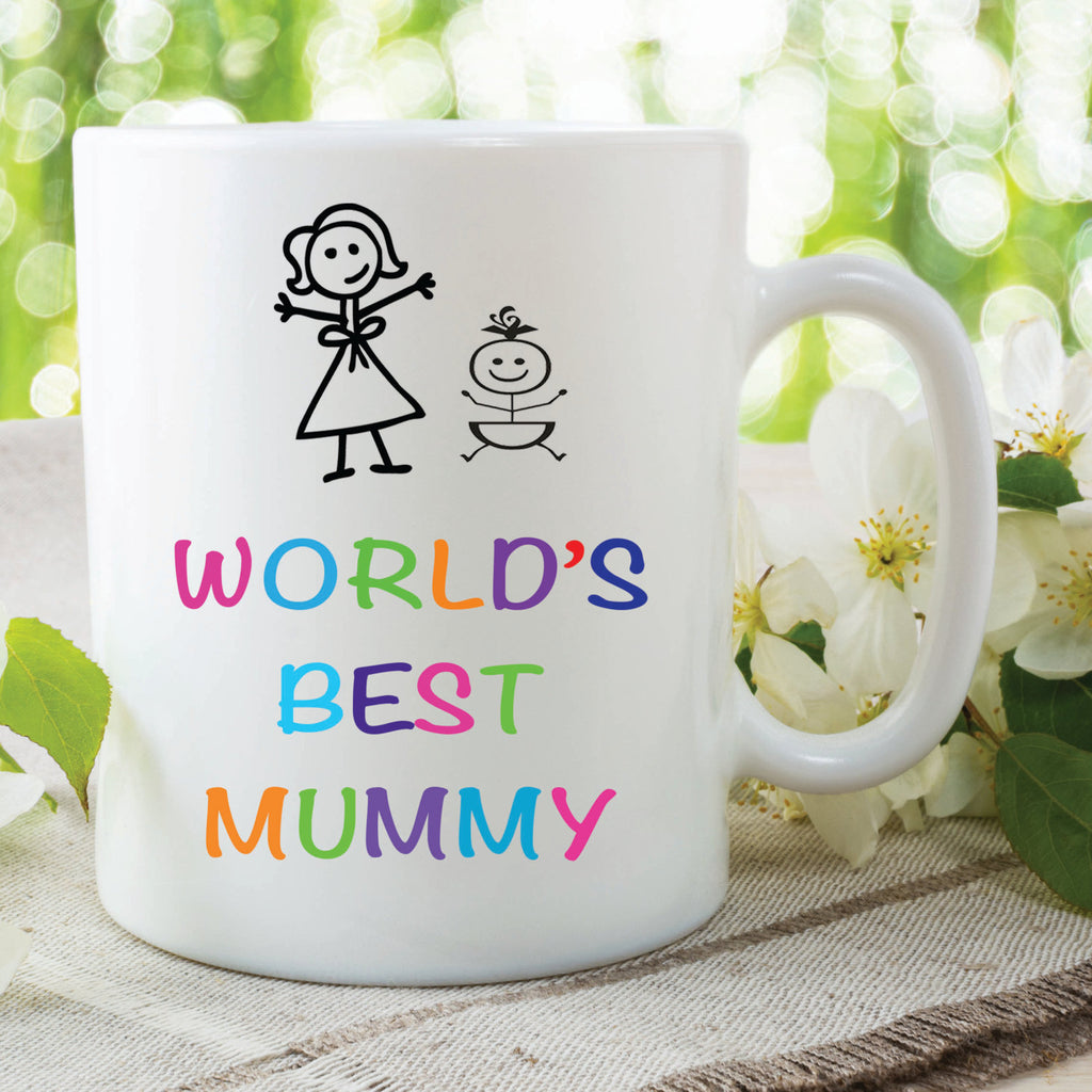 World's Best Mummy Mug Mothers Day Pregnancy New Mum Baby Shower Gift Friend Christmas Girlfriend Secret Santa Coffee Ceramic Mug WSDMUG431