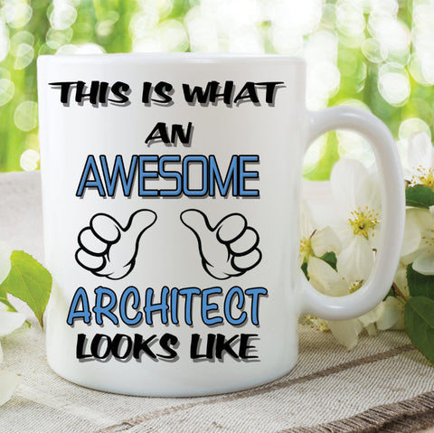 Architect Mug This Is What An Awesome Architect Looks Like Novelty Birthday Gift Best Friend Ceramic Cup Work Office Humour Cups WSDMUG799
