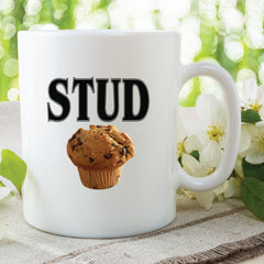 Stud Muffin Mug Funny Novelty Gift For Friend Gift Husband Boyfriend Fathers Day Valentines Coffee Gifts For Men Funny Mugs  WSDMUG460