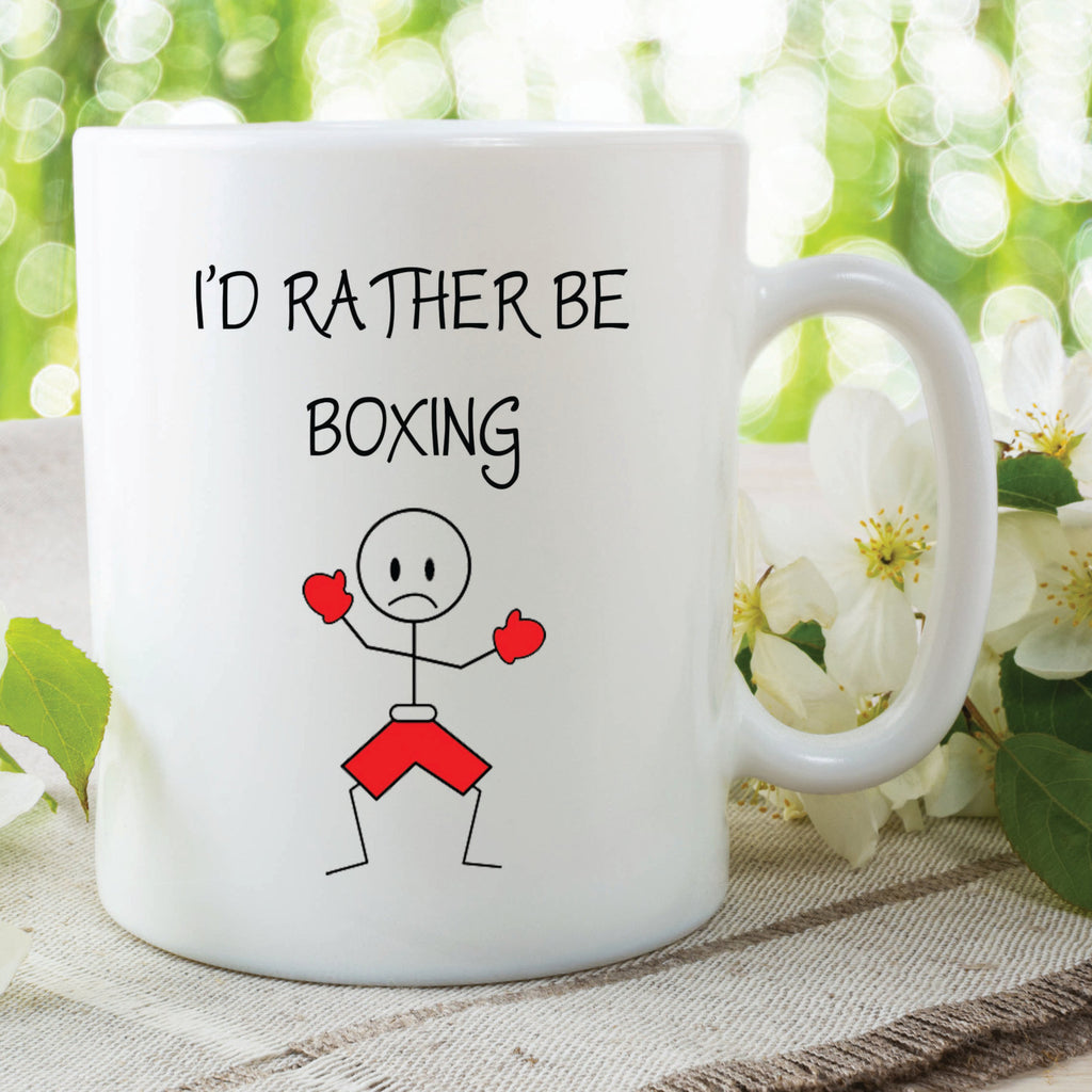 I'd Rather Be Boxing Mug Gift For Him Birthday Christmas Anniversary Present Boxing Lover Gift Husband Boyfriend Novelty Funny Cup WSDMUG465