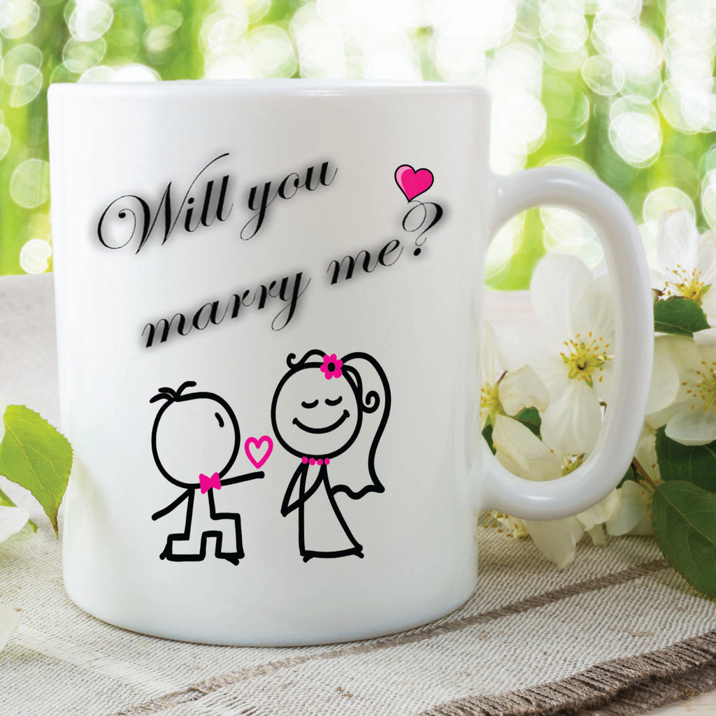 Will You Marry Me Mug Surprise Announcement Proposal Girlfriend Marriage Mug Wedding Valentines Day Surprise Mug Keepsake Gift WSDMUG255
