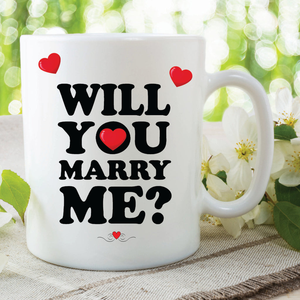 Will You Marry Me Mug Surprise Announcement Proposal Girlfriend Marriage Mug Wedding Valentines Day Surprise Mug Keepsake Gift WSDMUG481