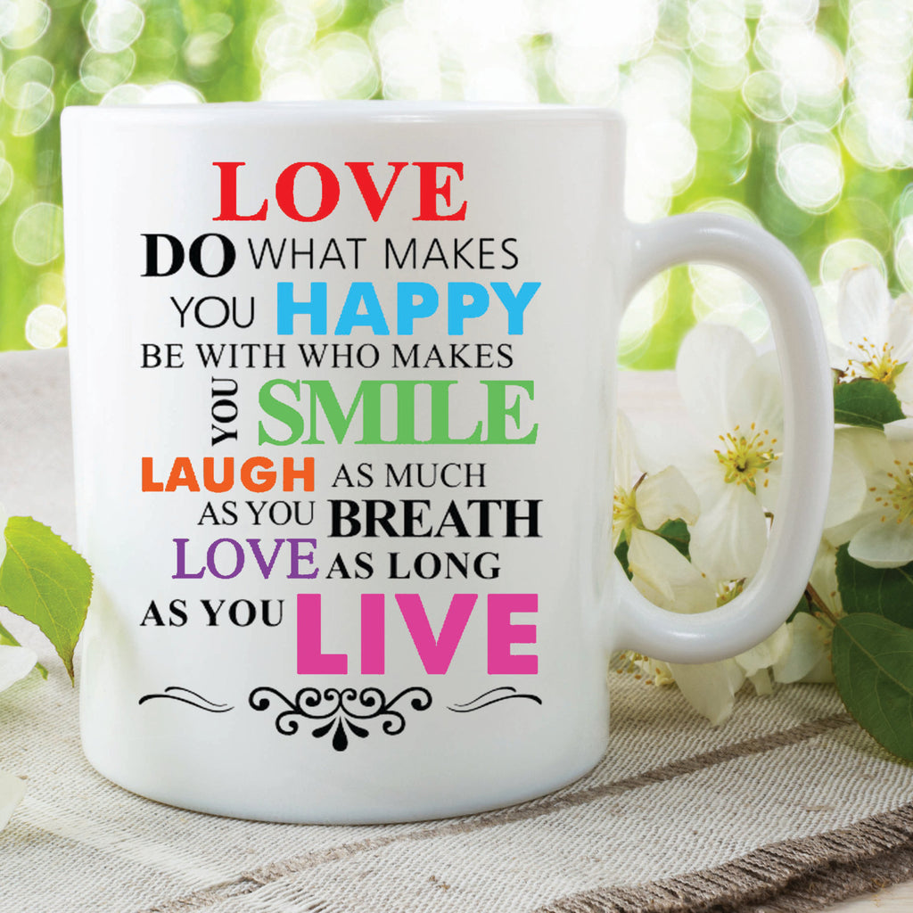 office mugs. Printed Mug Quotes Love Happy Smile Laugh Live Work Office Mugs Secret Santa Birthday Gifts For