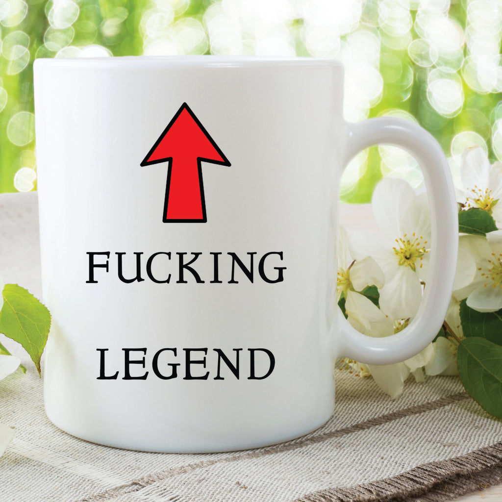 Legend Mug Fucking Legend Fathers Day Gift Friend Gift Christmas Present Gift For Him Her Best Friend Mug Novelty Funny Mugs Cups  WSDMUG557