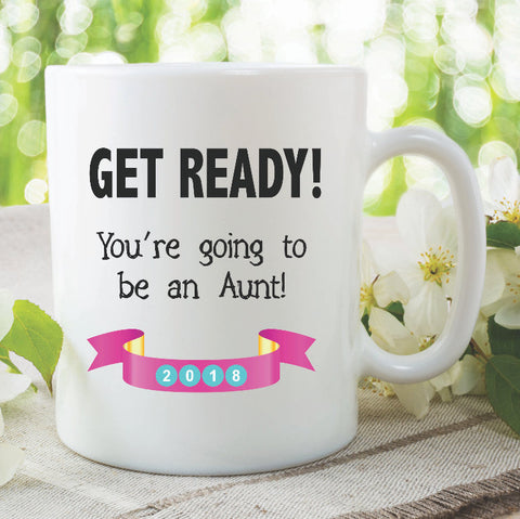 Aunt Mug Personalised You're Going To Be An Aunt Surprise Gift Sister In Law Present Baby Announcement Auntie Mug Sister New Baby WSDMUG872