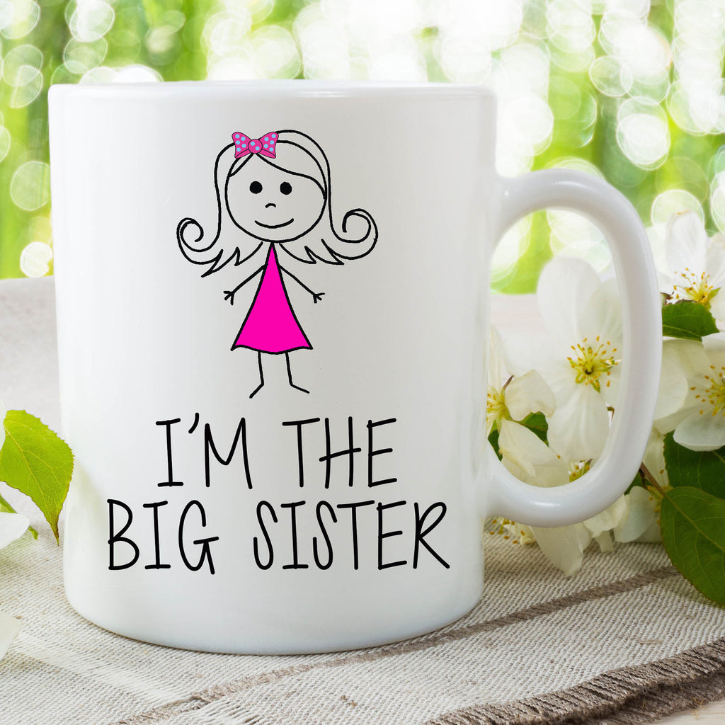 I'm The Big Sister Mug Gift For Daughter Surprise Baby Announcement Gift Birthday Christmas Gift New Baby On The Way Baby Shower WSDMUG640
