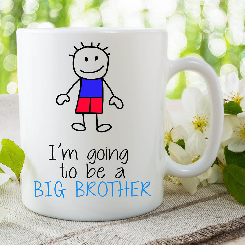 I'm Going To Be A Big Brother Mug Gift For Son Surprise Baby Announcement Gift Christmas Gift New Baby On The Way Baby Shower WSDMUG661