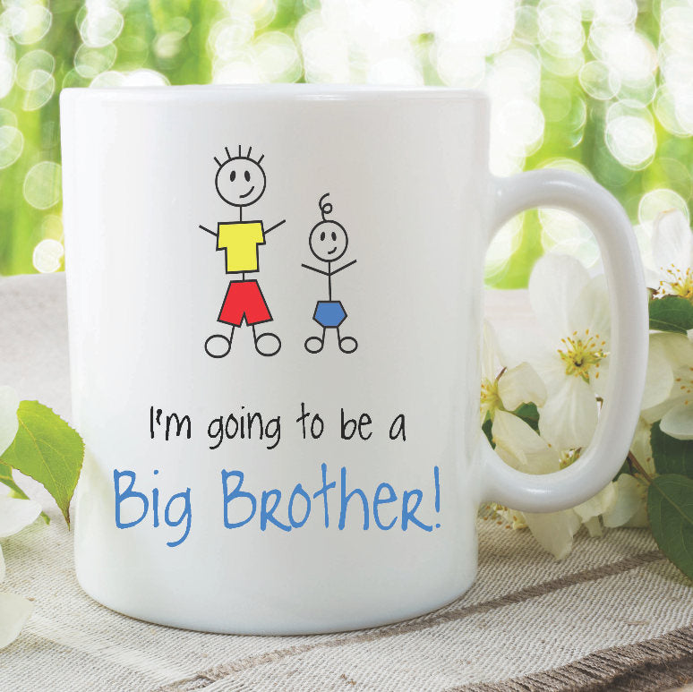 Big Brother Mugs I'm Going To Be A Big Brother New Baby Shower Pregnancy Announcement Children's Gift New Born Birthday Present WSDMUG904