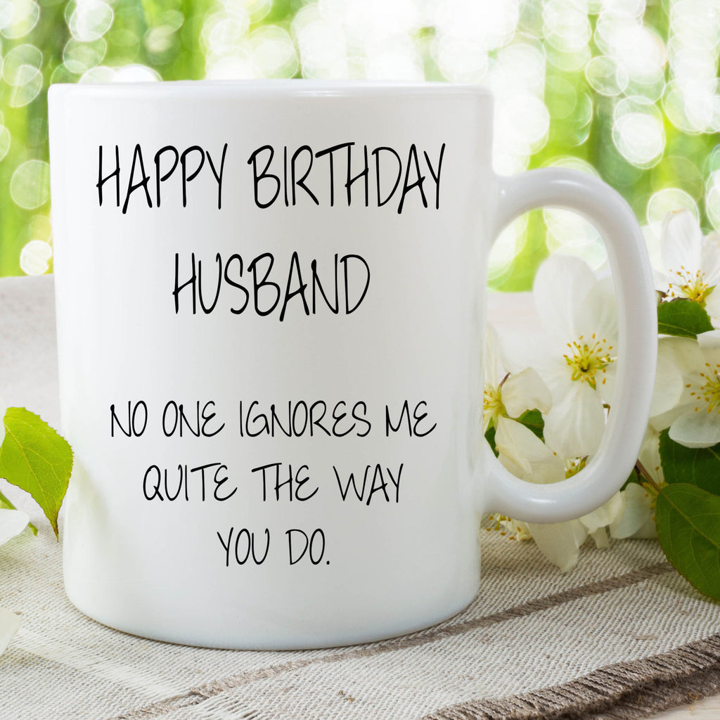Happy Birthday Husband Mug Cup Gift Coffee For Husban Peachy Cards