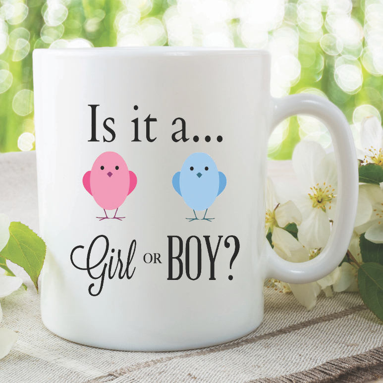 Baby Shower Mugs Baby Surprise Announcement Gift Is It A Baby Girl Or Boy New Mummy New Daddy Baby Gifts Pregnancy Pregnant Mom WSDMUG906