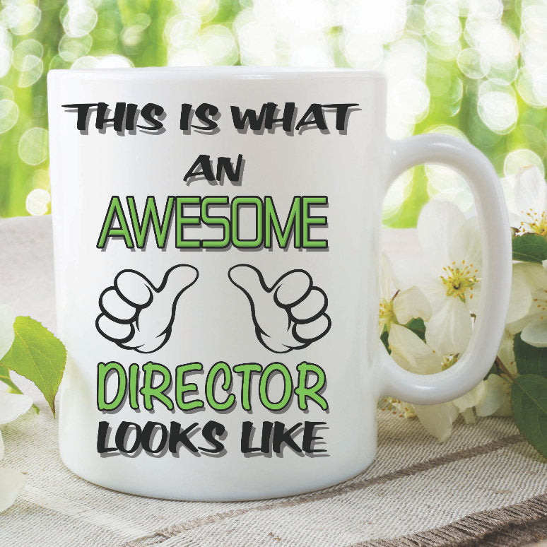 Director Mug This Is What An Awesome Director Looks Like Novelty Birthday Gift Best Friend Boss Ceramic Cup Work Office Funny Joke WSDMUG916