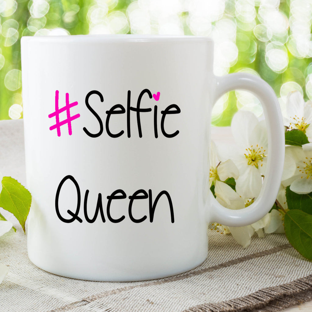 Selfie Queen Mugs Gift For Friend Best Friend Gifts Daughter Gifts Selfie Lover Facebook Instagram Selfie Queen Christmas Birthday WSDMUG743