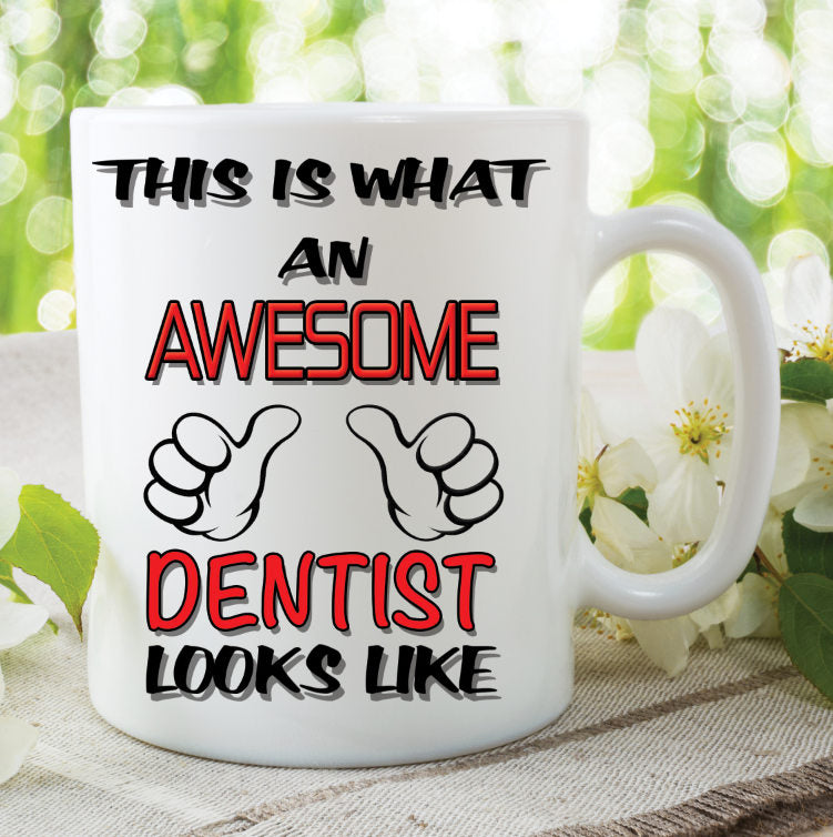 Dentist Mug This Is What An Awesome Dentist Looks Like Novelty Birthday Xmas Gift Present Ceramic Mug Work Cup Gift WSDMUG779
