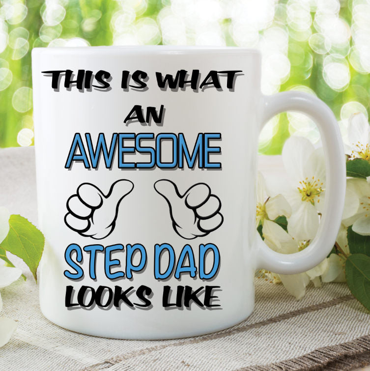 Step Dad Mug This Is What An Awesome Step Dad Looks Like Novelty Birthday Gift Fathers Day Present Ceramic Mug Work Cup For Dad WSDMUG780