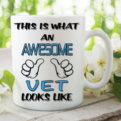 Vet Mug This Is What An Awesome Vet Looks Like Novelty Birthday Gift Best Friend Ceramic Cup Work Office Humour Cups Animals Lover WSDMUG806