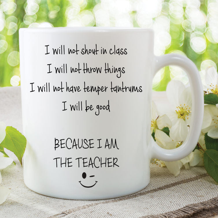 Teacher Mug Novelty Gifts Funny Present Gifts For Her Him Humour I'm The Teacher School Cup Work Mugs Funny Teacher Gift Mug WSDMUG827