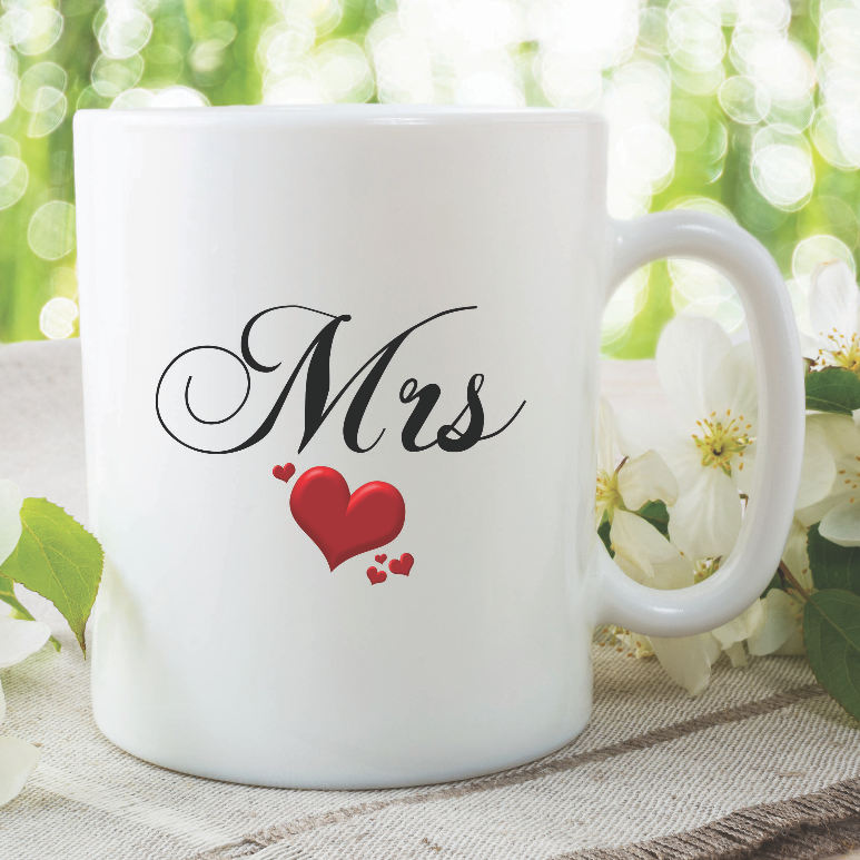 Mrs Mug Wedding Gift Bride Present For Her Best Friend Anniversar Peachy Cards
