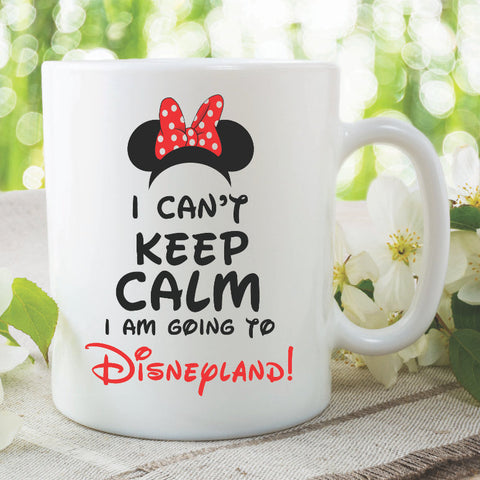 Novelty Mug I Am Going To Disneyland Best Friend Gift Coffee Cup Disney Mug Birthday Gift Surprise Holiday Announcement Tea Cup WSDMUG886