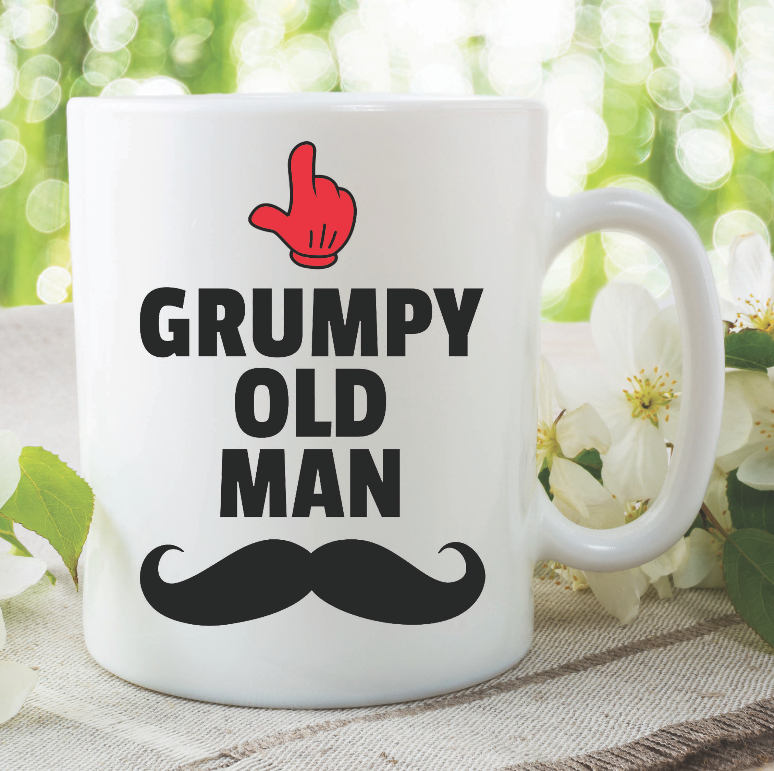 Funny Novelty Mugs Grumpy Old Man Moustache Joke Coffee Tea Cups Adult Humour Gifts For Him Fathers Day Gift Grandad Boyfriend Mug WSDMUG909